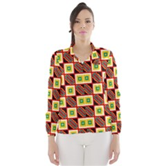 Squares And Rectangles Pattern                                                                                          Wind Breaker (women) by LalyLauraFLM