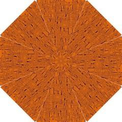 Orange Pattern Hook Handle Umbrellas (small) by Valentinaart