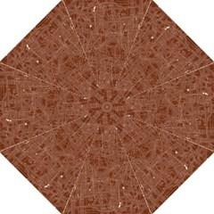 Brown Pattern Folding Umbrellas by Valentinaart