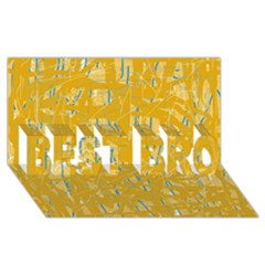 Yellow Pattern Best Bro 3d Greeting Card (8x4)  by Valentinaart