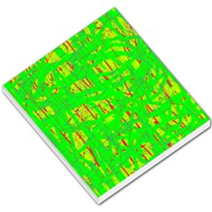 Neon Green Pattern Small Memo Pads by Valentinaart