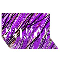Purple Pattern #1 Mom 3d Greeting Cards (8x4)  by Valentinaart