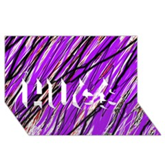 Purple Pattern Hugs 3d Greeting Card (8x4)  by Valentinaart