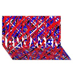 Red And Blue Pattern Engaged 3d Greeting Card (8x4)  by Valentinaart