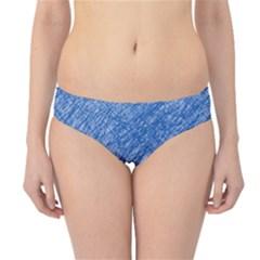 Blue pattern Hipster Bikini Bottoms by Valentinaart
