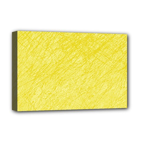 Yellow Pattern Deluxe Canvas 18  X 12   by Valentinaart
