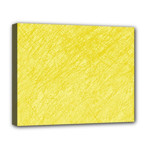 Yellow Pattern Deluxe Canvas 20  X 16   by Valentinaart