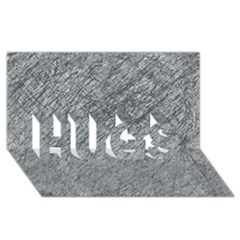 Gray Pattern Hugs 3d Greeting Card (8x4)  by Valentinaart
