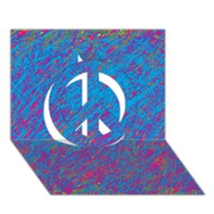 Blue Pattern Peace Sign 3d Greeting Card (7x5)  by Valentinaart