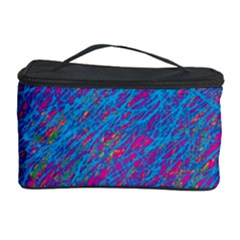 Blue Pattern Cosmetic Storage Case by Valentinaart