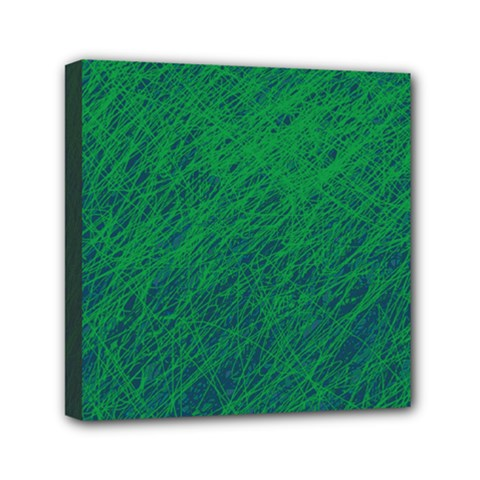 Deep Green Pattern Mini Canvas 6  X 6  by Valentinaart