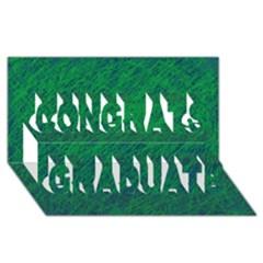 Deep Green Pattern Congrats Graduate 3d Greeting Card (8x4)  by Valentinaart