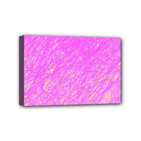 Pink Pattern Mini Canvas 6  X 4  by Valentinaart