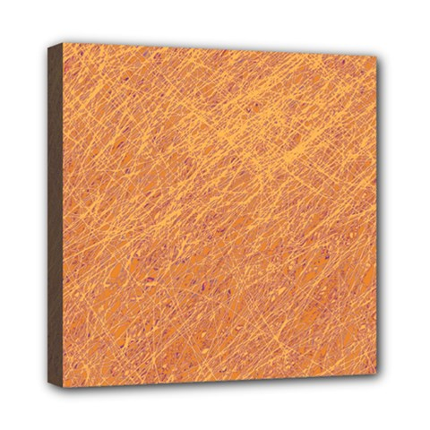 Orange Pattern Mini Canvas 8  X 8  by Valentinaart