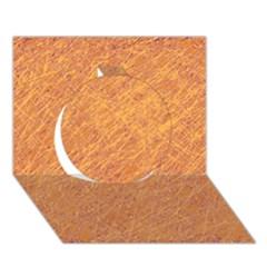 Orange Pattern Circle 3d Greeting Card (7x5)  by Valentinaart