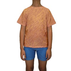 Orange pattern Kid s Short Sleeve Swimwear by Valentinaart