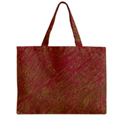 Brown Pattern Zipper Mini Tote Bag by Valentinaart