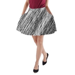 Black And White Decorative Pattern A Line Pocket Skirt by Valentinaart