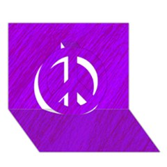 Purple Pattern Peace Sign 3d Greeting Card (7x5)  by Valentinaart