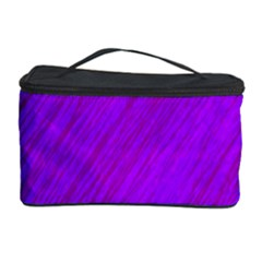 Purple Pattern Cosmetic Storage Case by Valentinaart