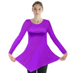 Purple Pattern Long Sleeve Tunic  by Valentinaart