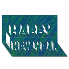 Green Pattern Happy New Year 3d Greeting Card (8x4)  by Valentinaart