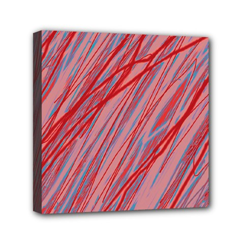 Pink And Red Decorative Pattern Mini Canvas 6  X 6  by Valentinaart