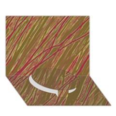Brown Elegant Pattern Circle Bottom 3d Greeting Card (7x5)  by Valentinaart