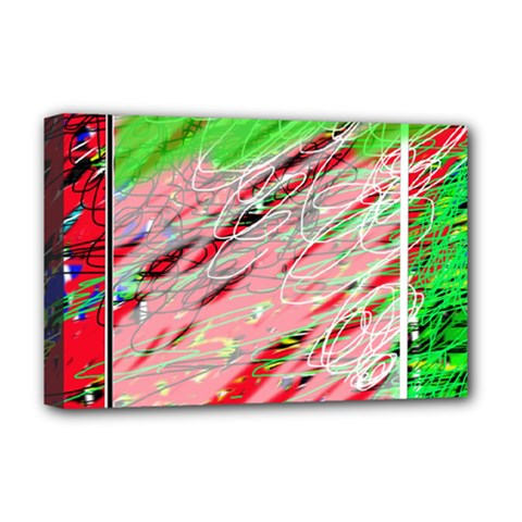 Colorful Pattern Deluxe Canvas 18  X 12   by Valentinaart