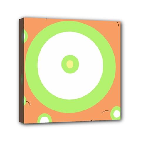 Green And Orange Design Mini Canvas 6  X 6  by Valentinaart