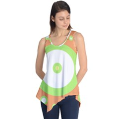 Green and orange design Sleeveless Tunic by Valentinaart