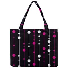 Magenta White And Black Pattern Mini Tote Bag by Valentinaart