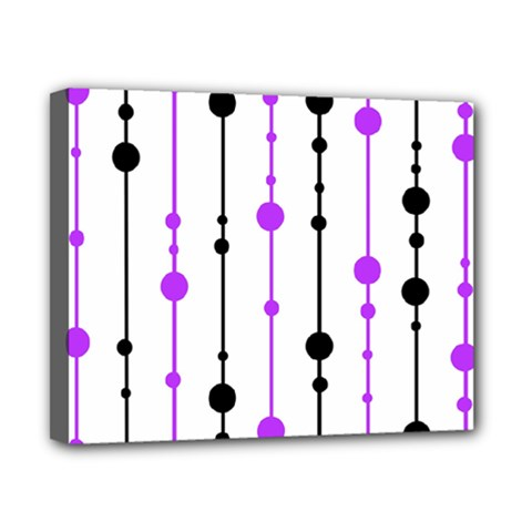 Purple, White And Black Pattern Canvas 10  X 8  by Valentinaart