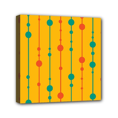 Yellow, Green And Red Pattern Mini Canvas 6  X 6  by Valentinaart