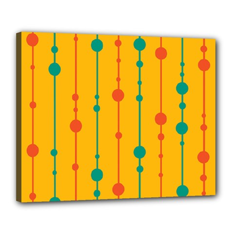 Yellow, Green And Red Pattern Canvas 20  X 16  by Valentinaart