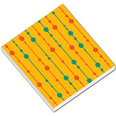 Yellow, green and red pattern Small Memo Pads