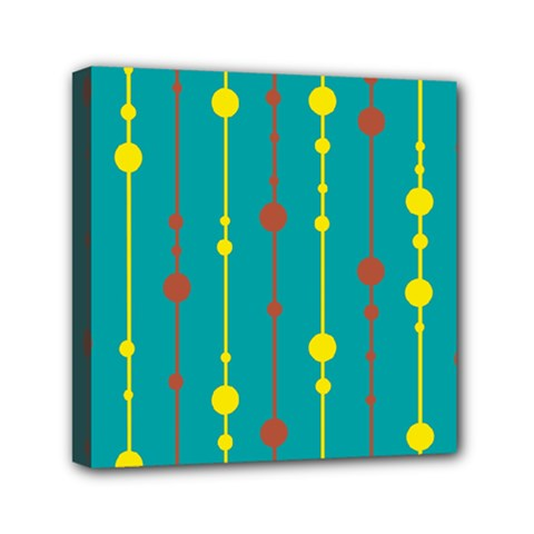 Green, Yellow And Red Pattern Mini Canvas 6  X 6  by Valentinaart