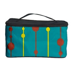 Green, Yellow And Red Pattern Cosmetic Storage Case by Valentinaart