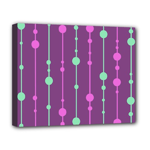Purple And Green Pattern Deluxe Canvas 20  X 16   by Valentinaart