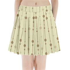 Brown Pattern Pleated Mini Mesh Skirt by Valentinaart