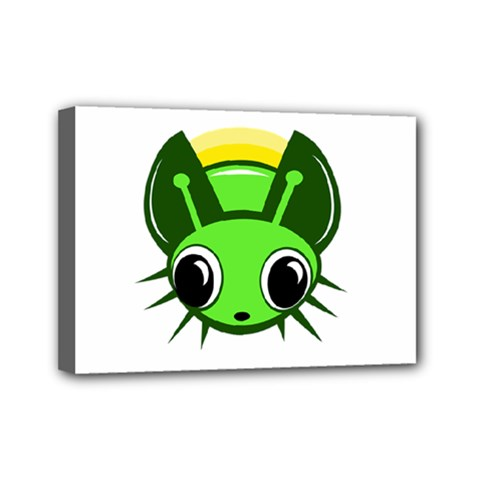 Transparent Firefly Mini Canvas 7  X 5  by Valentinaart
