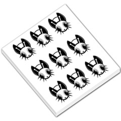 Black And White Fireflies Patten Small Memo Pads by Valentinaart