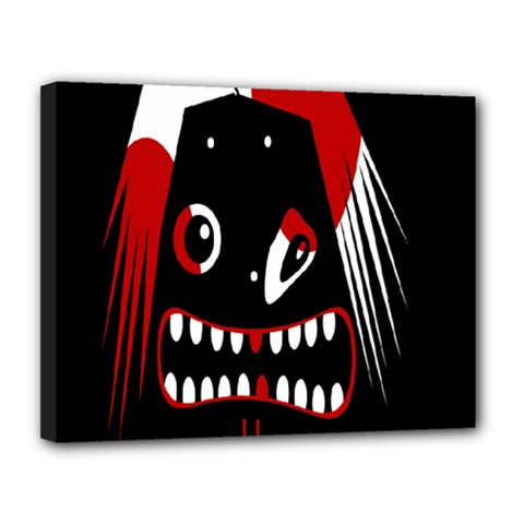 Zombie Face Canvas 14  X 11  by Valentinaart