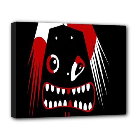 Zombie Face Deluxe Canvas 20  X 16   by Valentinaart