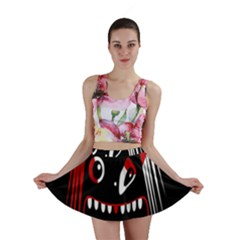 Zombie Face Mini Skirt by Valentinaart