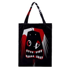 Zombie Face Classic Tote Bag by Valentinaart