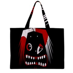 Zombie Face Zipper Mini Tote Bag by Valentinaart