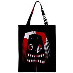 Zombie Face Zipper Classic Tote Bag by Valentinaart