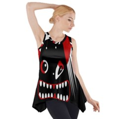 Zombie Face Side Drop Tank Tunic by Valentinaart