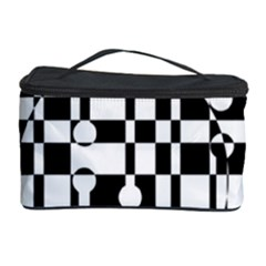 Black And White Pattern Cosmetic Storage Case by Valentinaart